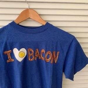 Vintage Brunch Bacon & Eggs Top Size Small